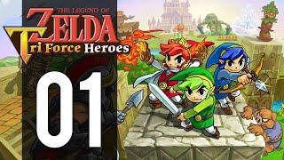 The Legend of Zelda: Triforce Heroes - Gameplay Walkthrough Part 1 - Heroic Trio (3DS)