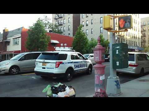 Rare Catch Of NYC Sheriff Cruising By In Soundview, Bronx