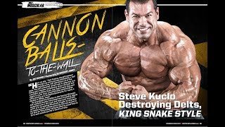 Steve Kuclo IFBB Pro BTS with Most Muscular Magazine