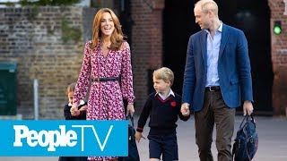 Princess Charlotte Steps Out For First Day Of School With Big Brother George & Parents | PeopleTV