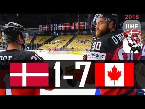 Canada vs Denmark | 2018 IIHF Worlds Highlights | May. 7, 2018