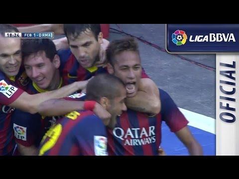 Gol de Neymar (1-0) en el FC Barcelona - Real Madrid - HD