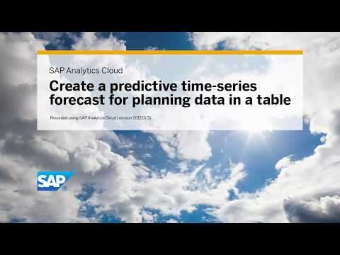 Create a predictive time-series forecast for planning data: SAP Analytics Cloud (version 2017.15.3)