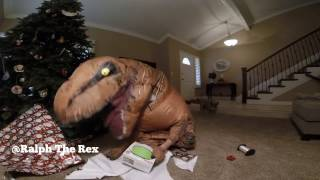 Ralph the Rex here with gift wrapping 101! Clearly our short T-Rex ...