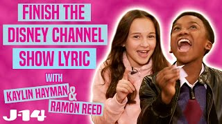 Just Roll With It Stars Sing Disney Channel Theme Songs | Finish The Lyric