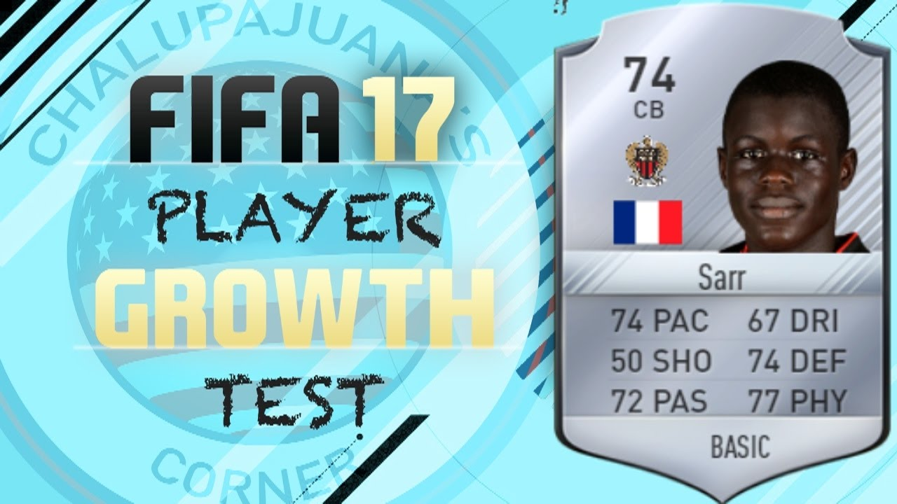 Fifa 17 Malang Sarr Growth Test Youtube