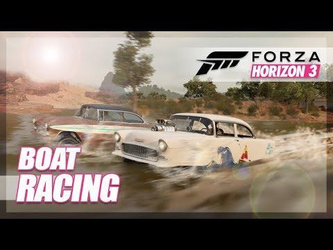 Forza Horizon 3 - Boats in Forza! (Build & Racing)