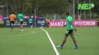 El golazo de Neyder Moreno en la práctica verdolaga...
