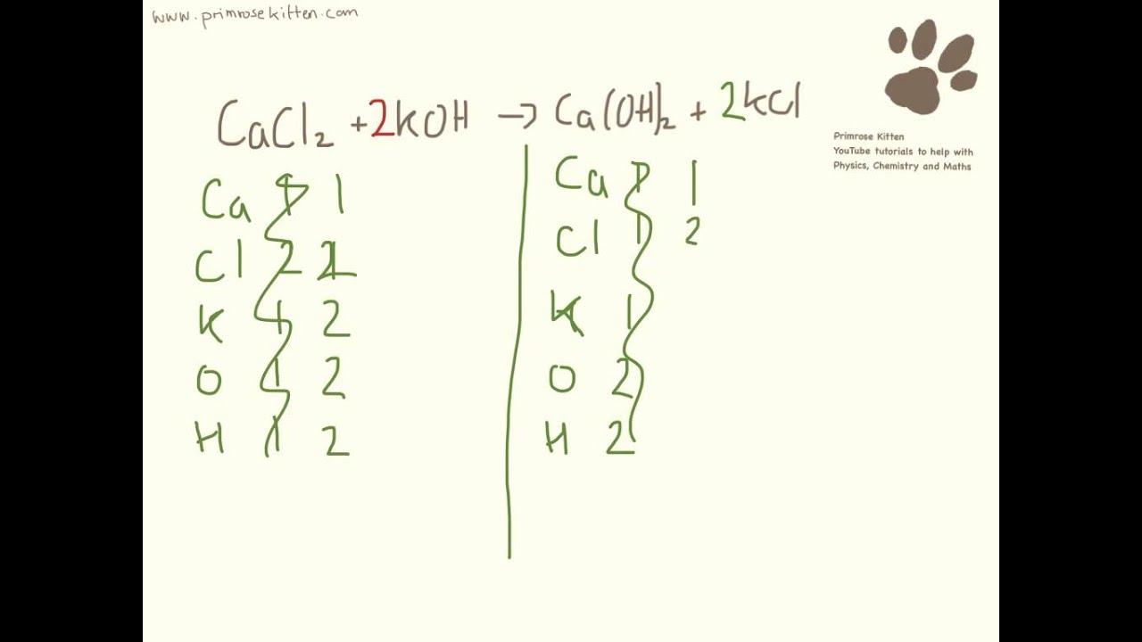 Balancing Equations Worksheet Gcse