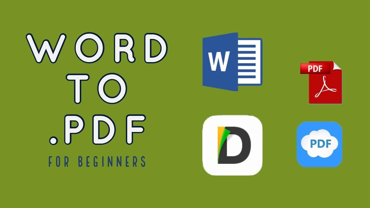 Convert WORD to PDF iOs / iPhone - YouTube