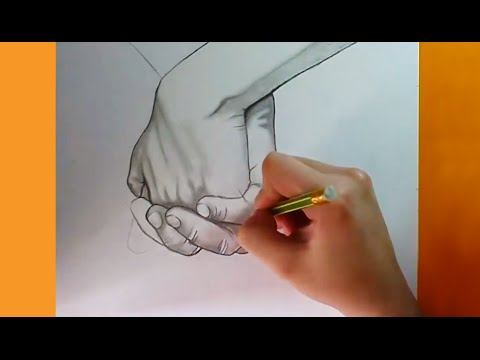Holding Hands Mani Speed Drawing Disegno A Matita Youtube
