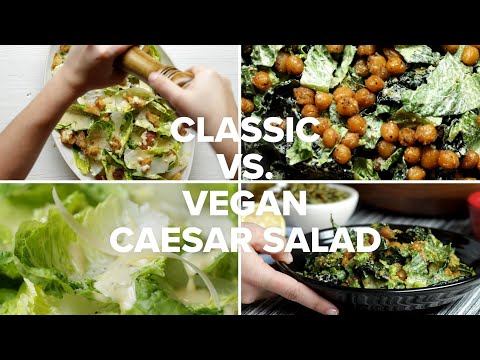 Classic Caesar Salad vs. Vegan Caesar Salad • Tasty Recipes