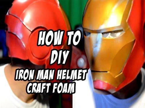How to DIY Iron Man Helmet Foam Cosplay Costume & How to DIY Iron Man Helmet Foam Cosplay Costume - YouTube