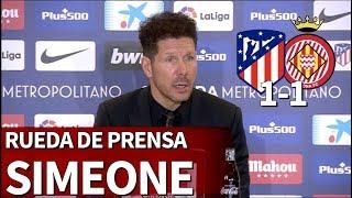 Atltico de Madrid 1-1 Girona  Rueda de prensa de Simeone  Diario AS