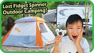 Lost My New FIDGET SPINNER at Camping, Big Foot, Family and Kids Fun Vacation - TigerBox HD