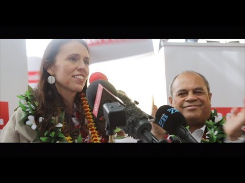 Labour Leader, Jacinda Ardern is welcomed to South Auckland in Mangere - land....