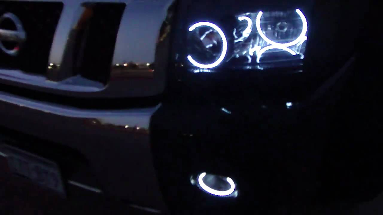 Nissan Titan With Led Halo Rings Youtube