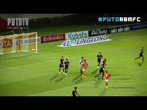 PUTDTV GOAL Highlight : Thai League 2017 :  Ratchaburi Mitr Phol FC 1 - 0 Pattaya United