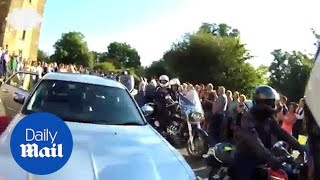 Bullied teen arrives at school prom with 120 strong motorcade