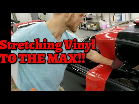 Repairing Damaged Vinyl Using Heat. Vvivid Rosso Corso Red. By @ckwraps