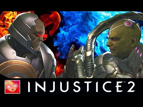 Injustice 2 - Darkseid Vs Brainiac All Intros/Clash Quotes