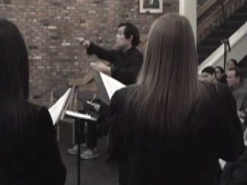 Choral conducting - 'Tang Poems: II. Written on a Rainy Night', Chen Yi