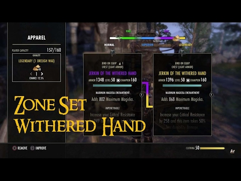 ESO Set | Withered Hand Set Farm Location // Zone Set