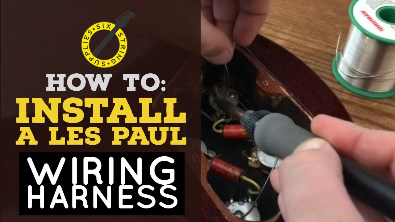 how to install a prewired les paul harness epiphone les paul rewire [ 1280 x 720 Pixel ]