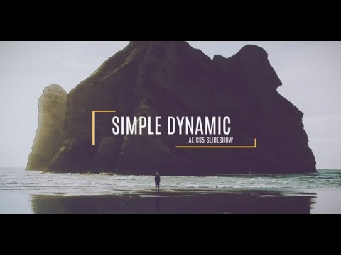 free after effects cs5 template simple dynamic slideshow youtube