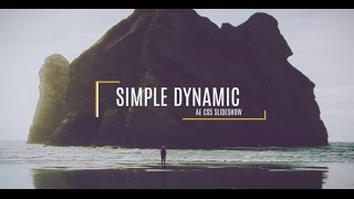 FREE After Effects CS5 Template - Simple Dynamic Slideshow
