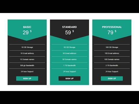 Easy Pricing Table Design | How To Design A Pricing Table With Html And Css