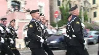 Российские морские пехотинцы на параде в Корфу   Ρώσοι Πεζοναύτες παρελαύνουν στην Κέρκυρα