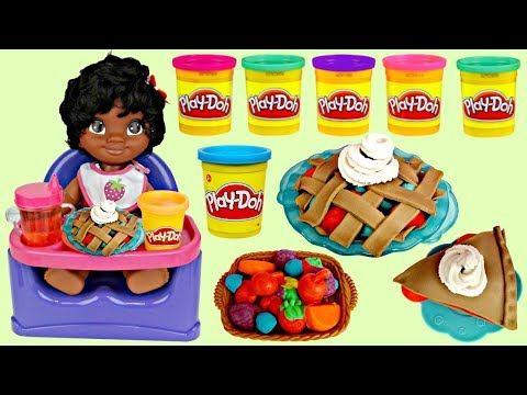 Thumbnail: Disney Little Baby MOANA Eat Food, Dessert Play-doh Playful Pies Kitchen DIY Creation, Maui / TUYC