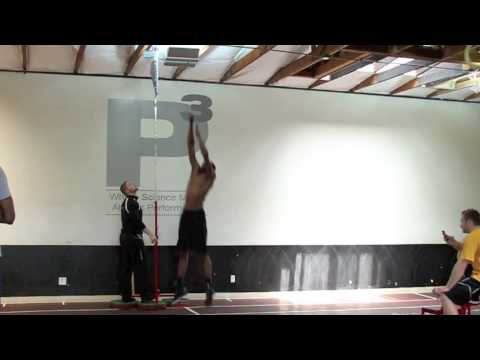 "Jeremy Evans 43"" Vertical, touches 12"