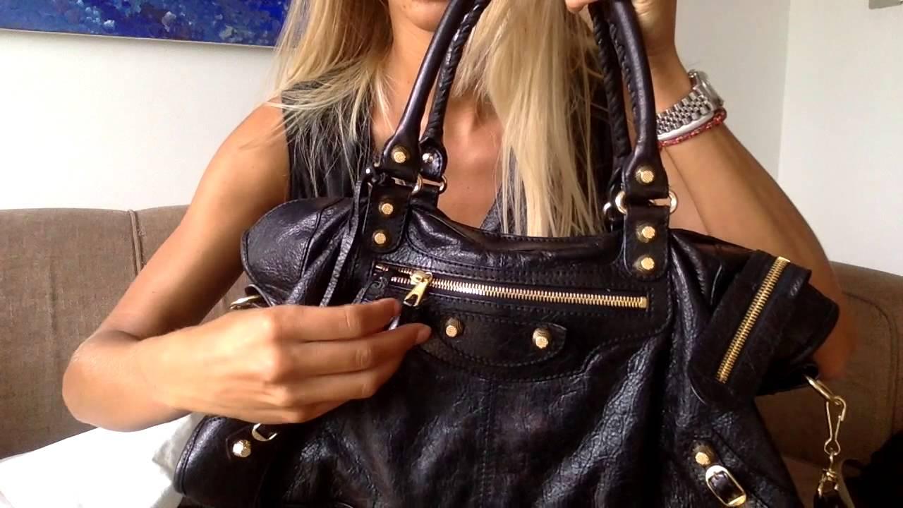 a65e9b64fd52 Balenciaga black leather part time part bag w giant hardware pt1 ...