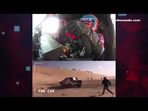 Vuelco de Alonso en el Dakar