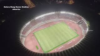 The biggest football stadium in South East Asia. Gelora Bung Karno Stadium,  Jakarta
