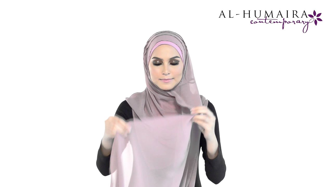 Shawl tutorial by al humaira contemporary youtube.