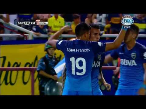 Gol de Centurión (1-0) / Boca Juniors 2-0 Estudiantes (LP) - Torneo de Verano 2017