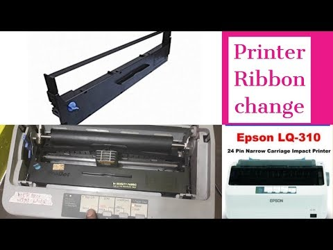How to Epson LQ 310 Printer Ribbon change Prectical Live Proved ( printer does not print )