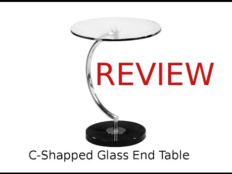 Review of Glass End Tables C-Shaped Chrome From Overstock