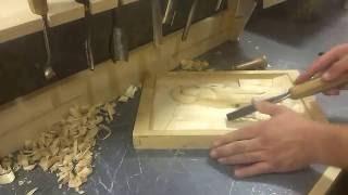 Урок по резьбе декоративного панно
