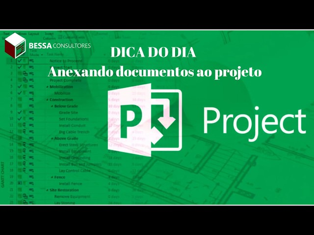 Hyperlink no MS Project