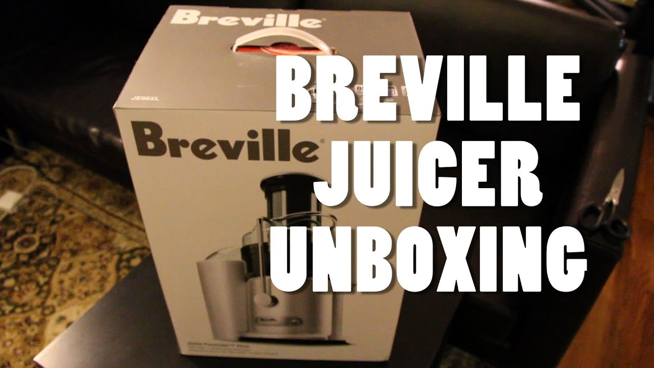 unboxing the breville 2speed juice fountain plus