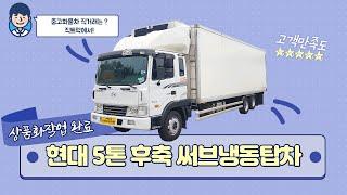 현대 5톤 후축 써브냉동탑차 [중고화물차매매] [화물차…