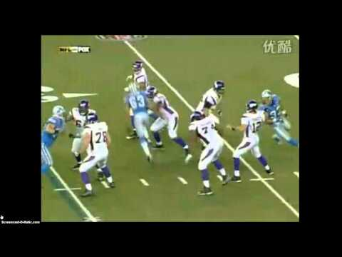 Gus Frerotte hurt vs Lions 2008 including interception