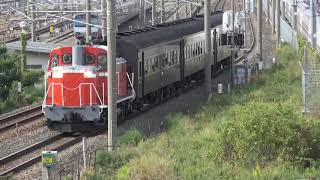 DD16-11_旧型客車3両「飯山線開通90周年号」運転 しなの鉄道北しなの線 長野―北長野
