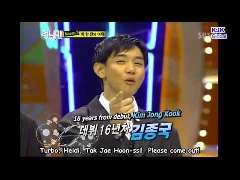Running Man Moments. Funny Kim Jong Kook Turbo Throwback HD Cut. [English Subs]
