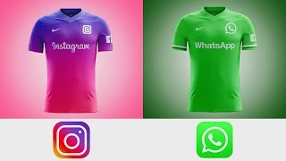 What if The Biggest Apps Have Football Teams II Amazing Kits Concepts II