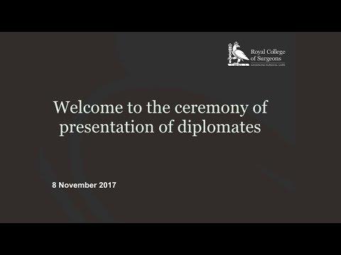 Ceremony of presentation of diplomates - 8 November 2017